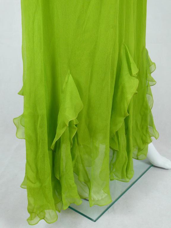 Christian Dior Ruffled Chiffon Dress For Sale 1