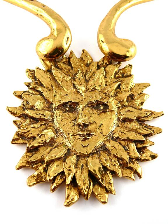 Yves Saint Laurent by Robert Goossens Vintage Rare Sun Face Chocker Necklace 3