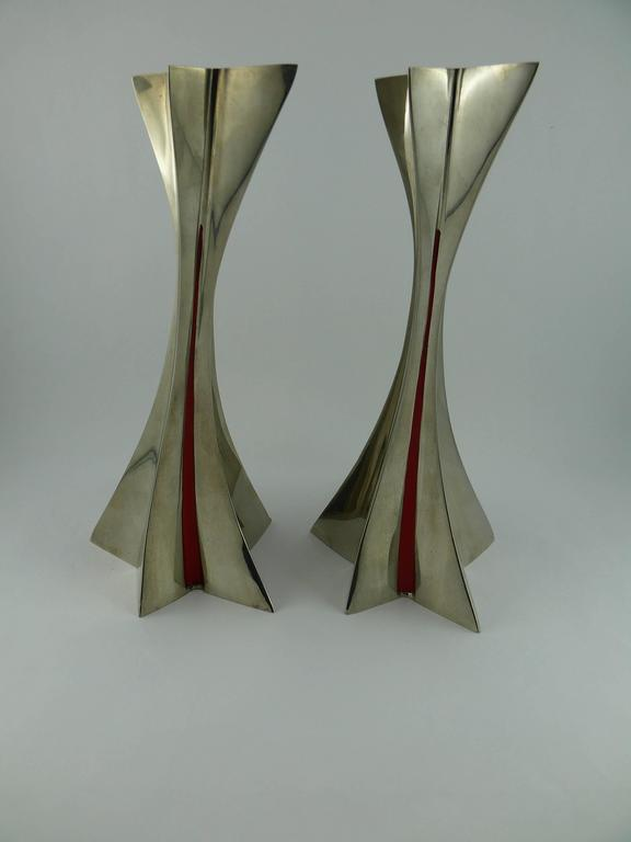 Thierry Mugler Massive Futuristic Shooting Star Candelsticks 2