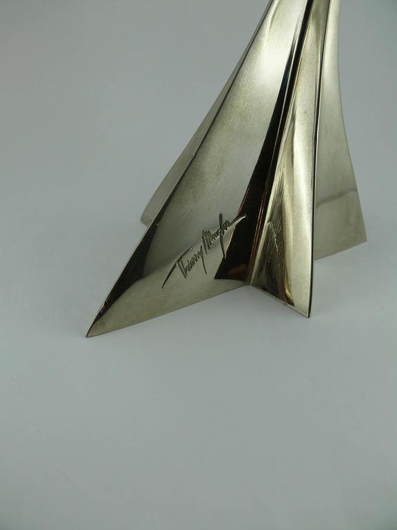 Thierry Mugler Massive Futuristic Shooting Star Candelsticks 4