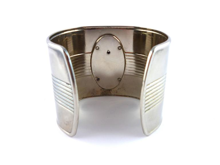 Jean Paul Gaultier 1990s Iconic Tin Can Cuff Bracelet In Excellent Condition For French