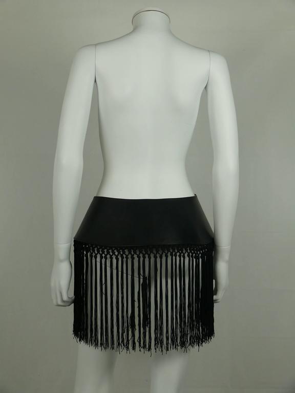 Jean Paul Gaultier Gibo Vintage Rare Wide Black Corset Leather Belt 4