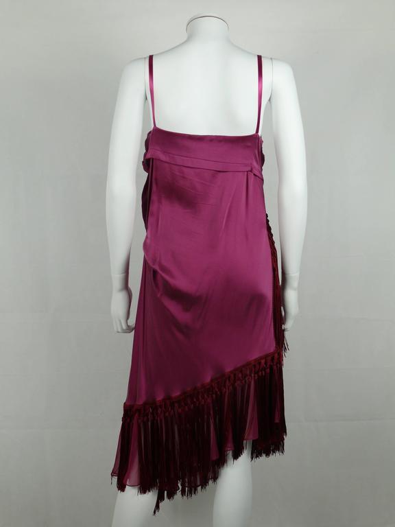 John Galliano Bias Cut Silk Cocktail Dress For Sale 1