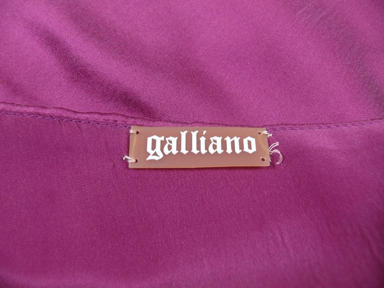 John Galliano Bias Cut Silk Cocktail Dress For Sale 2
