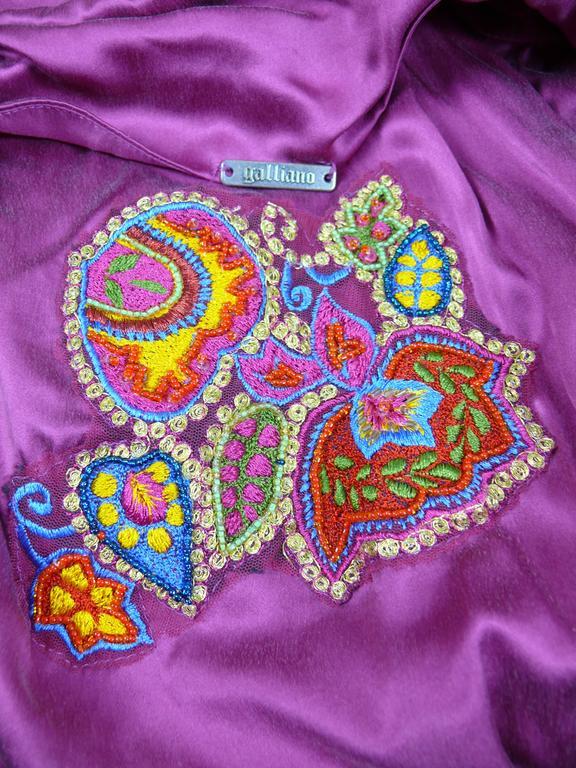 Pink John Galliano Bias Cut Silk Cocktail Dress For Sale