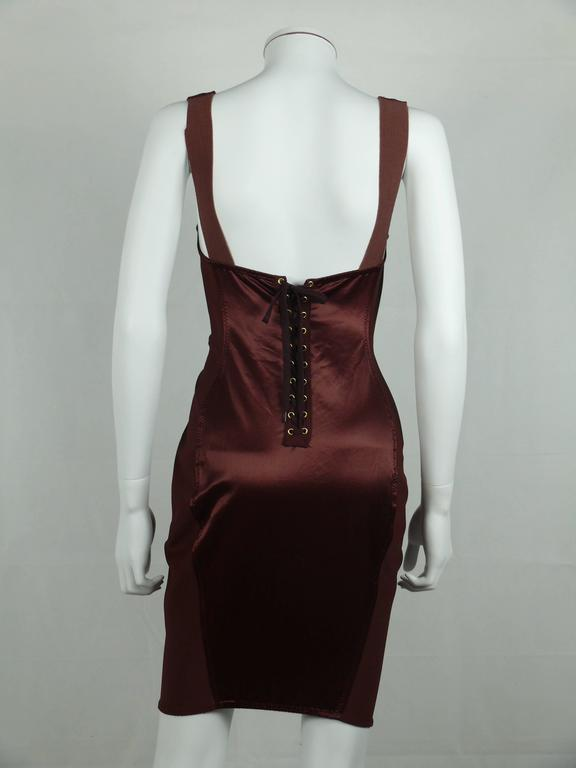 "Jean Paul Gaultier Vintage Rare Iconic ""Cone Bust"" Corset Dress In Excellent Condition For Sale In French Riviera, FR"