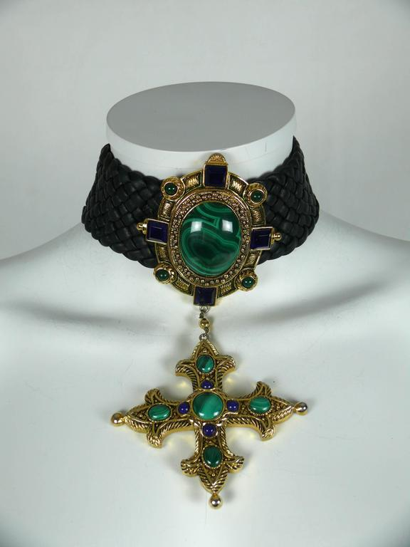 CHRISTIAN DIOR Elizabethean inspired rare choker necklace.