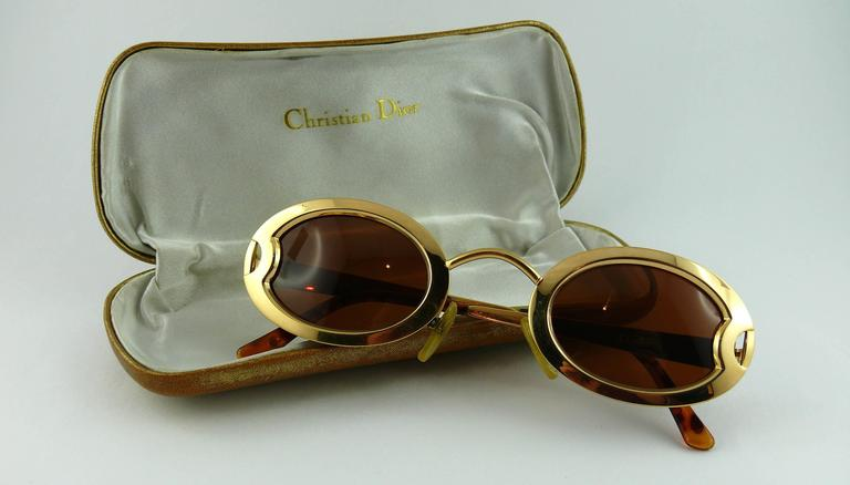 0aac76a663854 Brown Christian Dior Vintage Rare Limited Edition Sunglasses 1995 RTW S S  Runway Show For