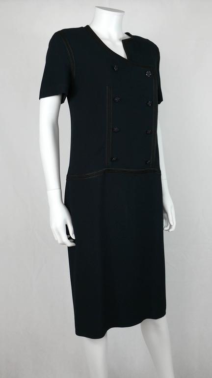 Chanel 2002 Cruise Collection Navy Asymmetric Dress 2