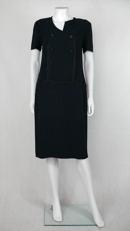Chanel 2002 Cruise Collection Navy Asymmetric Dress 3