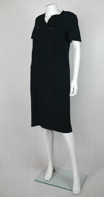 Chanel 2002 Cruise Collection Navy Asymmetric Dress 5