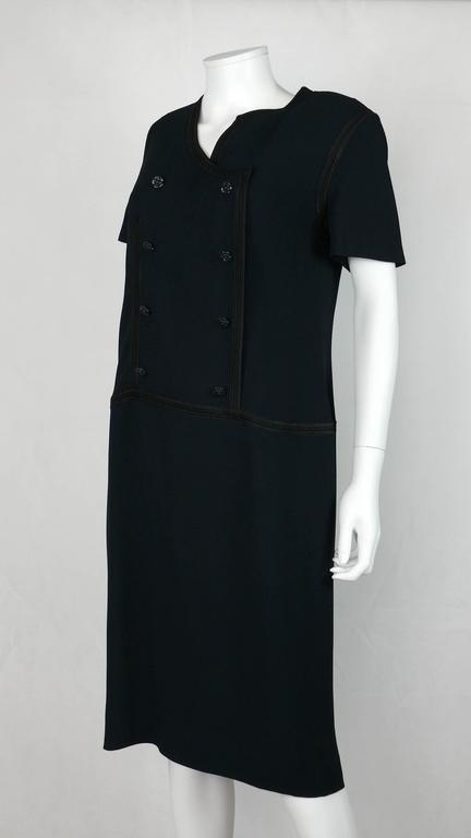 Chanel 2002 Cruise Collection Navy Asymmetric Dress 4