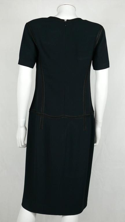 Chanel 2002 Cruise Collection Navy Asymmetric Dress 6