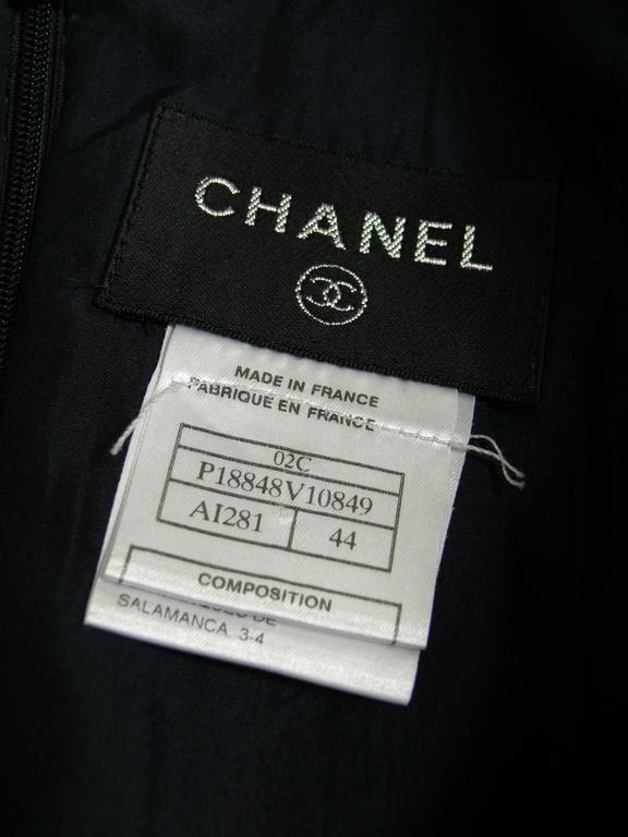 Chanel 2002 Cruise Collection Navy Asymmetric Dress 7