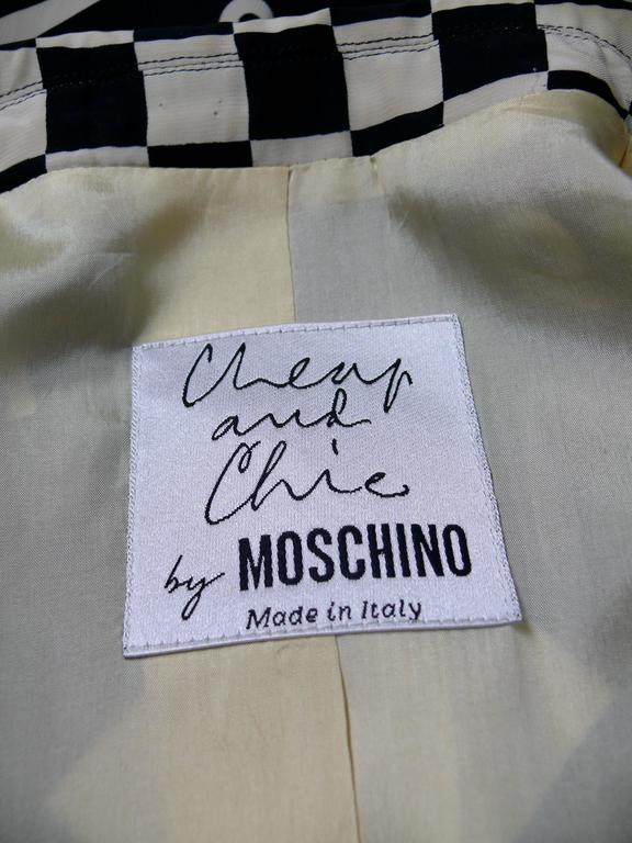 Moschino Vintage Monochrome Dartboard Print Blazer For Sale 2