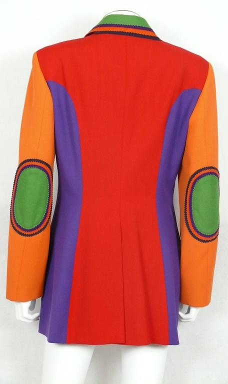 Moschino Vintage Color Blocked Wool Jacket 6