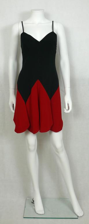 Red Moschino Vintage Iconic Heart Mini Dress 1990s For Sale
