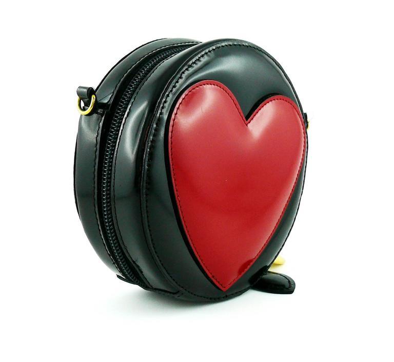 Moschino Vintage Iconic Appliqué Heart Cross Body Micro Bag 3