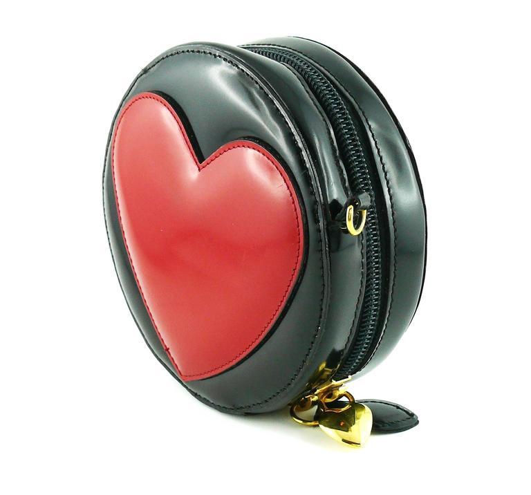 Moschino Vintage Iconic Appliqué Heart Cross Body Micro Bag 4
