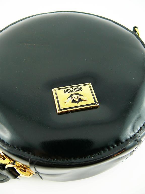 Moschino Vintage Iconic Appliqué Heart Cross Body Micro Bag 6
