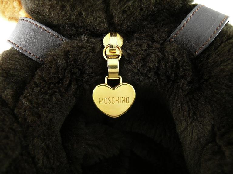 Moschino by Redwall Vintage 1990s Uber Rare Teddy Bear Backpack 3