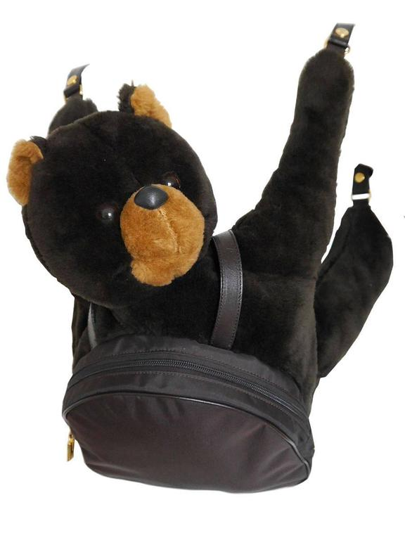 Moschino by Redwall Vintage 1990s Uber Rare Teddy Bear Backpack 2