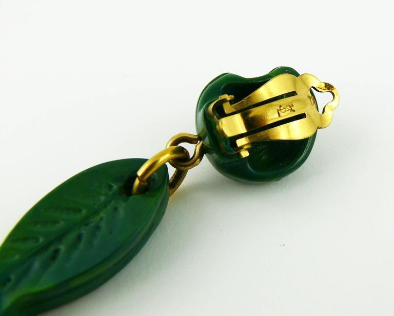 Yves Saint Laurent YSL Vintage Sea Life Dangling Earrings For Sale 1