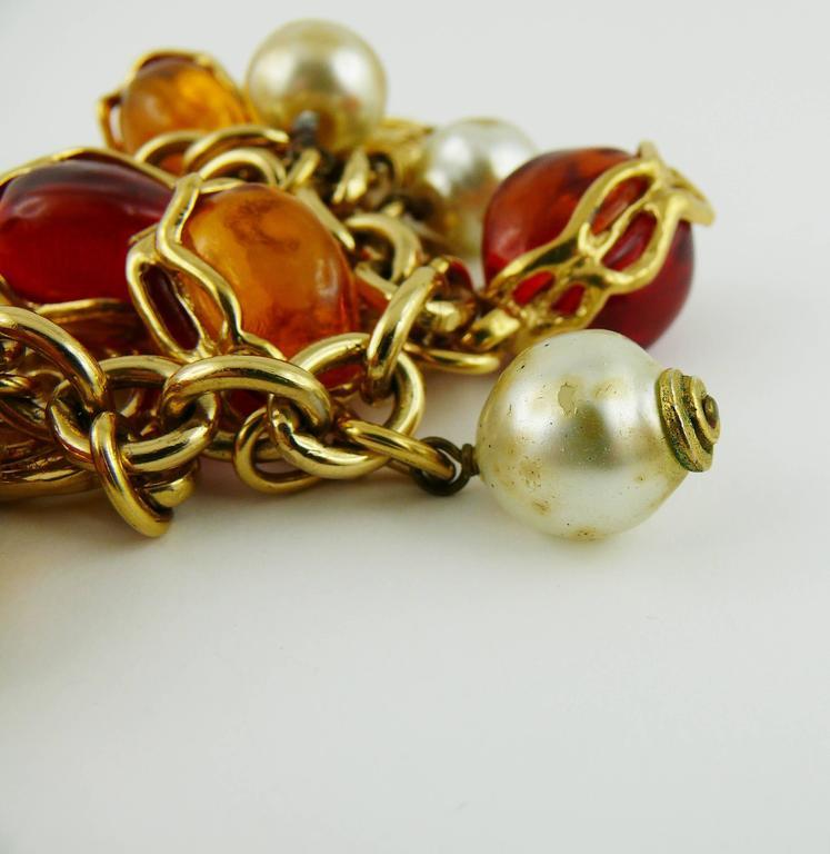 Yves Saint Laurent YSL Vintage Charm Bracelet For Sale 2