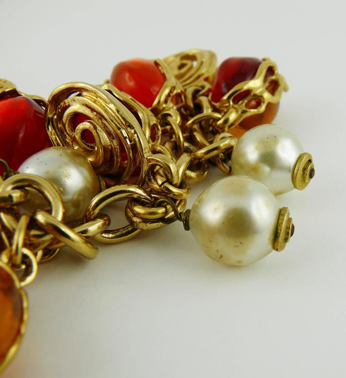 Yves Saint Laurent YSL Vintage Charm Bracelet For Sale 4