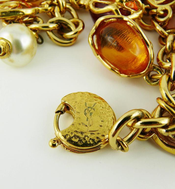 Yves Saint Laurent YSL Vintage Charm Bracelet For Sale 1