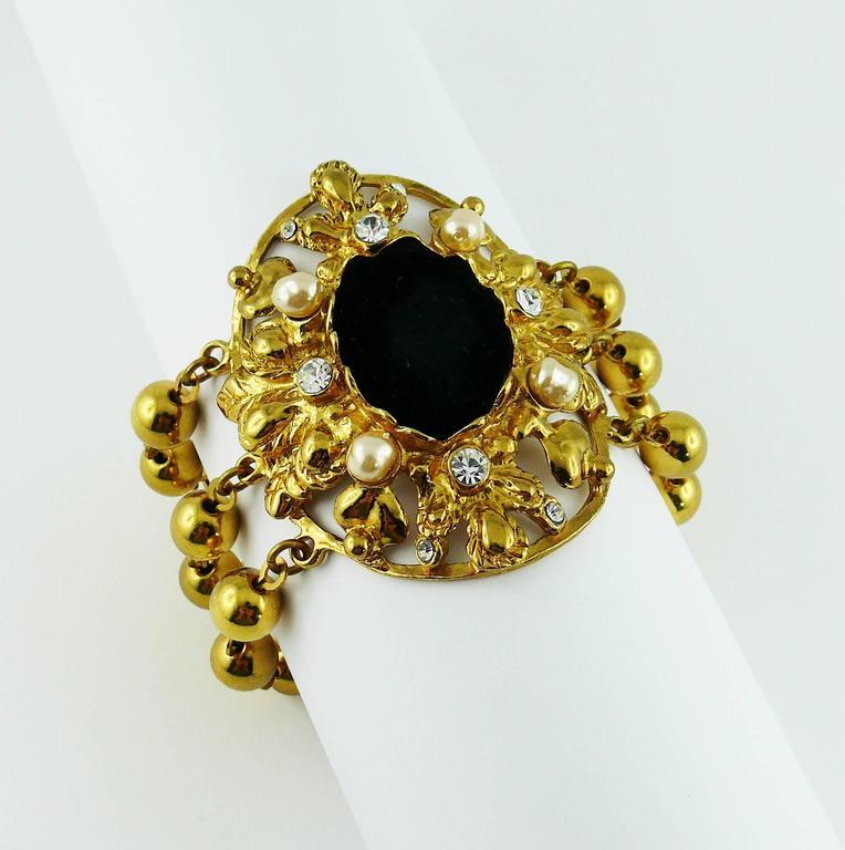 christian lacroix vintage jewelled cuff bracelet for sale at 1stdibs. Black Bedroom Furniture Sets. Home Design Ideas
