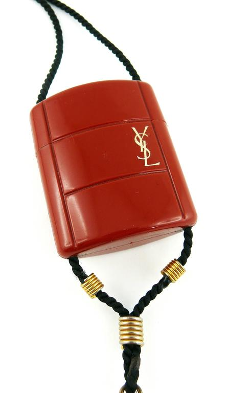 Yves Saint Laurent YSL Vintage Opium Inro Style Pendant Necklace 2