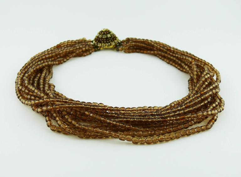 Christian Dior Vintage 1964 Multi Strand Beaded Necklace 3