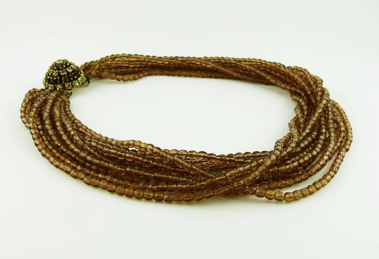 Christian Dior Vintage 1964 Multi Strand Beaded Necklace 4