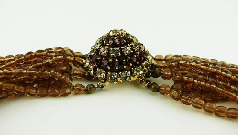 Christian Dior Vintage 1964 Multi Strand Beaded Necklace 6