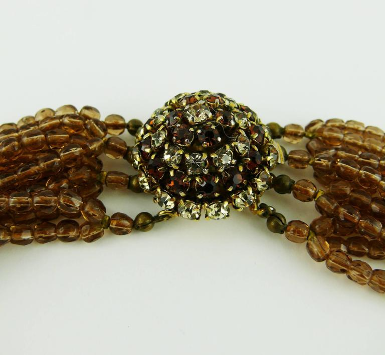 Christian Dior Vintage 1964 Multi Strand Beaded Necklace 7