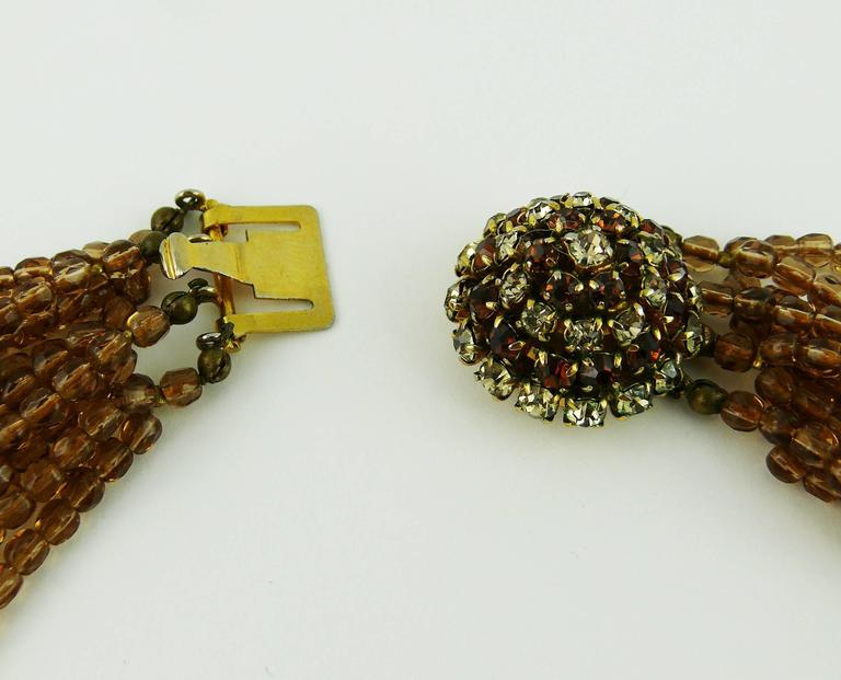 Christian Dior Vintage 1964 Multi Strand Beaded Necklace 8