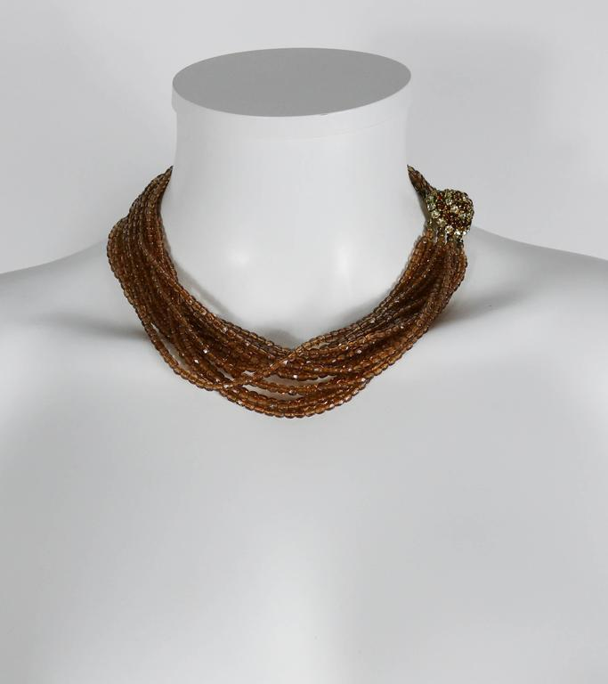 Christian Dior Vintage 1964 Multi Strand Beaded Necklace 2