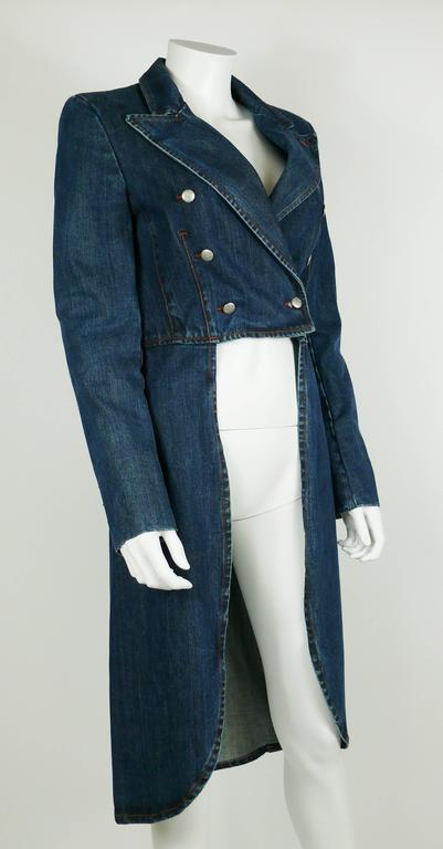 Women's Jean Paul Gaultier Denim Tailcoat For Sale