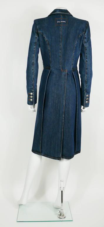 Jean Paul Gaultier Denim Tailcoat For Sale 3
