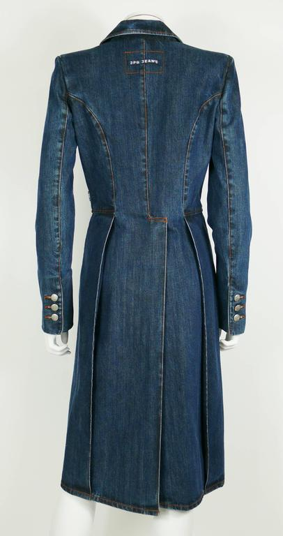 Jean Paul Gaultier Denim Tailcoat For Sale 4