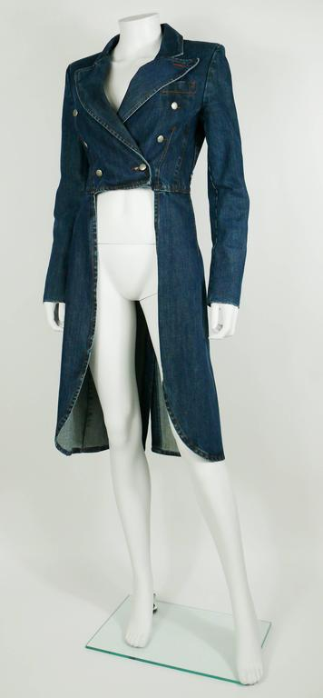 Jean Paul Gaultier Denim Tailcoat For Sale 1