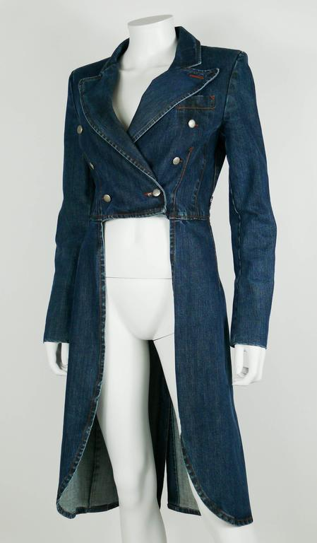 Jean Paul Gaultier Denim Tailcoat For Sale 2
