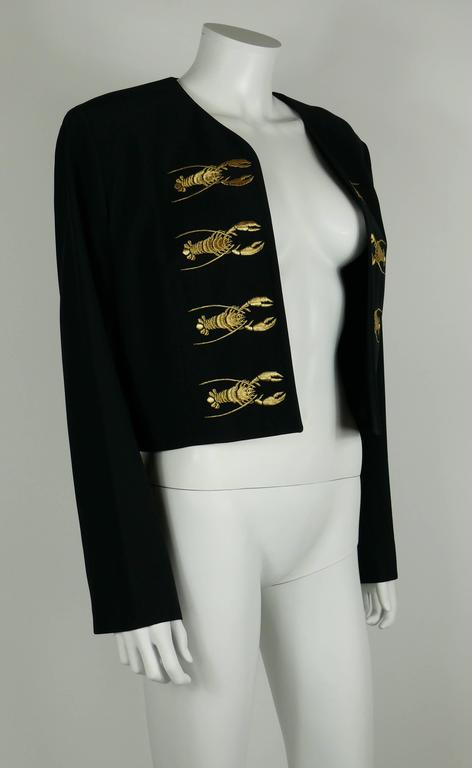 Moschino Couture Vintage Rare Iconic 1989 Black Lobster Blazer 4