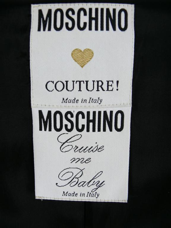 Moschino Couture Vintage Rare Iconic 1989 Black Lobster Blazer 6