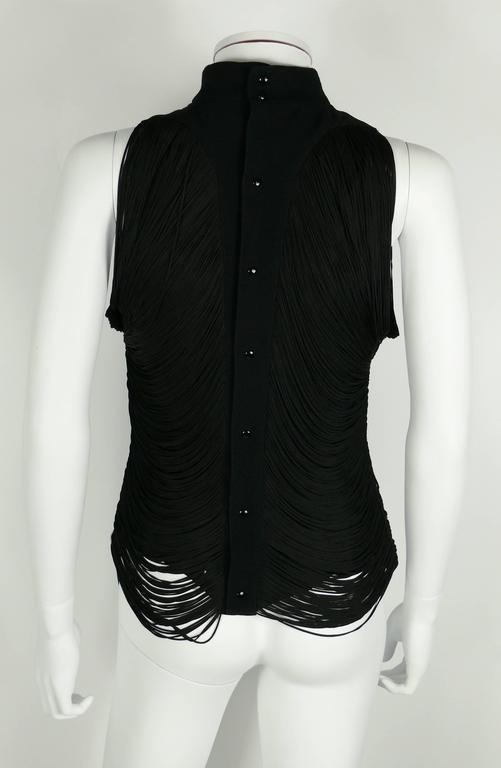 Thierry Mugler Vintage Black Fringed Top 5