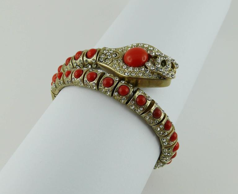 Women's Chanel Jewelled Articulated Snake Bracelet  For Sale