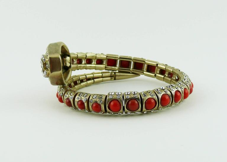 Chanel Jewelled Articulated Snake Bracelet  For Sale 3
