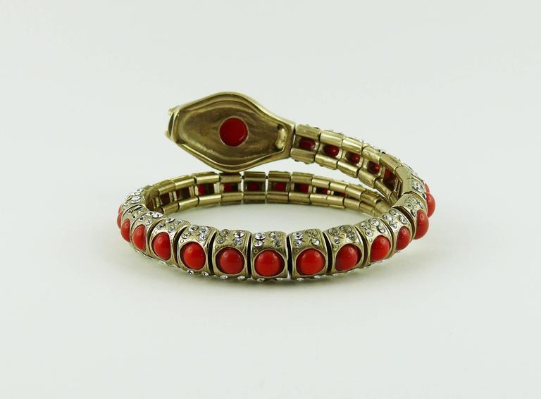 Chanel Jewelled Articulated Snake Bracelet  For Sale 4