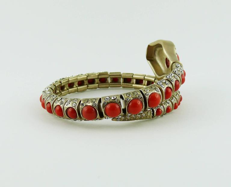 Chanel Jewelled Articulated Snake Bracelet  For Sale 5
